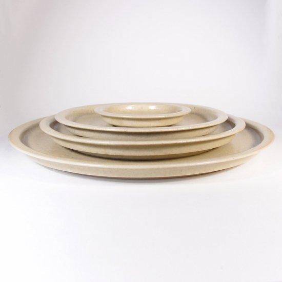 こいずみみゆき│6寸リム皿 ベージュ
