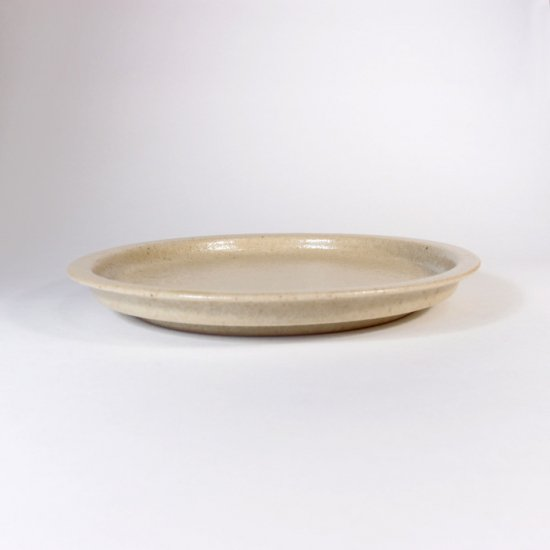 こいずみみゆき│5寸リム皿 ベージュ