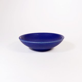 はしもとさちえ│豆皿(コバルトブルー)