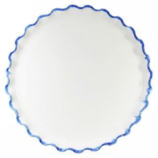 町田裕也|なみなみ平皿 7寸 ふちブルー