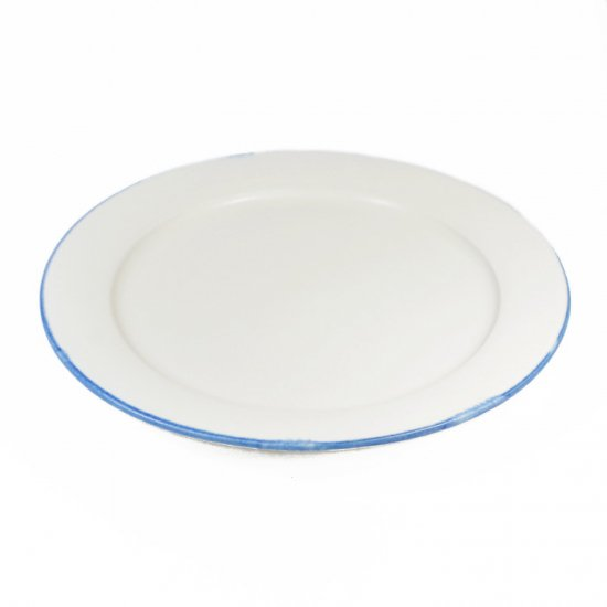町田裕也|リム皿 6寸 ふちブルー