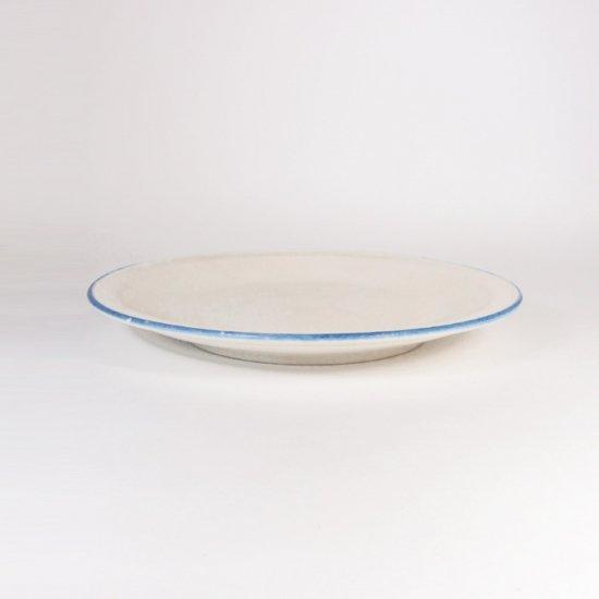 町田裕也|小皿 ふちブルー