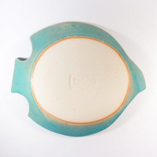 長浜由起子│とりのお皿 トルコブルー(Lサイズ)