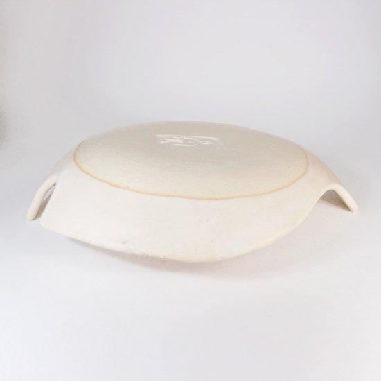 長浜由起子│とりのお皿 オフホワイト(Lサイズ)