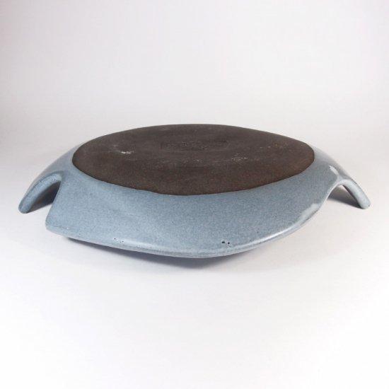 長浜由起子│とりのお皿 ブルーグレー(Lサイズ)