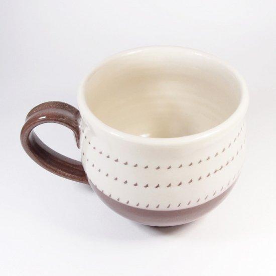 福嶋製陶│マグカップ 飛び鉋(トビカンナ)【小石原焼】