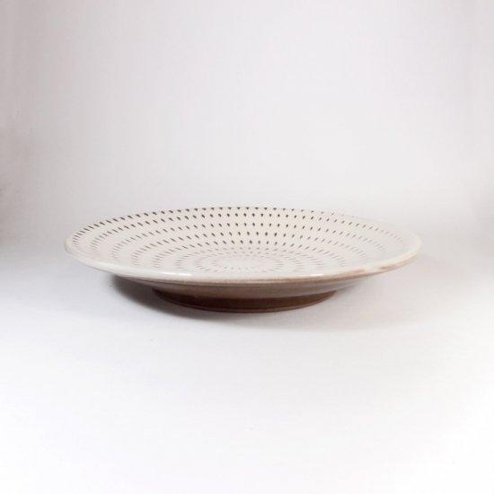 福嶋製陶│5.5寸皿 飛び鉋(トビカンナ)【小石原焼】
