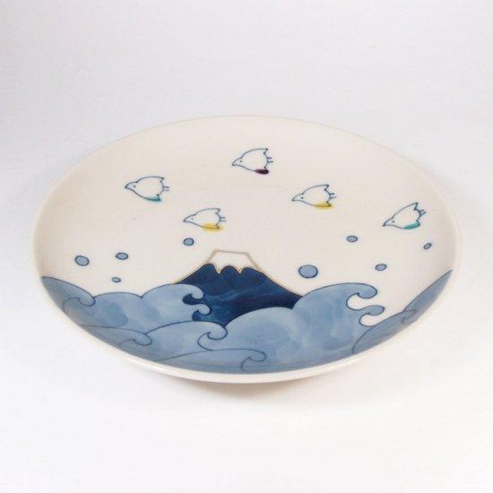 中川ひかり|4寸皿 千鳥と波と富士 【24B】