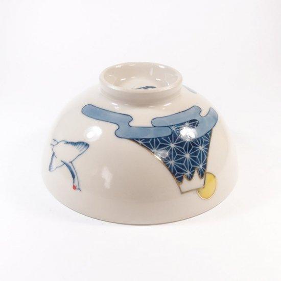 中川ひかり|茶碗 鶴と富士と雲 【32】