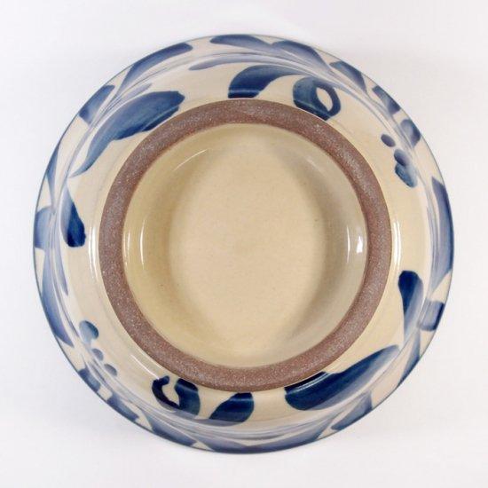 陶眞窯(とうしんがま)|そばマカイ コバルト唐草【やちむん】