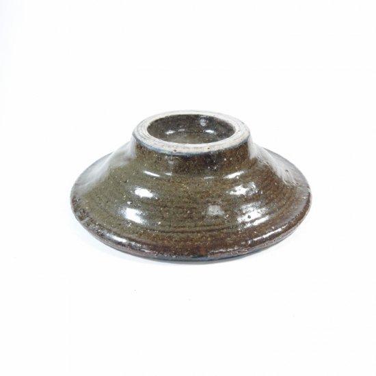 照屋窯(てるやがま)│4寸皿 重焼 唐草 コバ【やちむん】