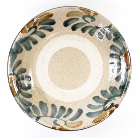 照屋窯(てるやがま)│6.5寸皿 重焼 唐草 ゴス【やちむん】