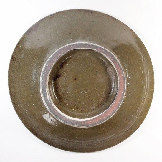 照屋窯(てるやがま)│6.5寸皿 重焼 丸紋 アメ【やちむん】