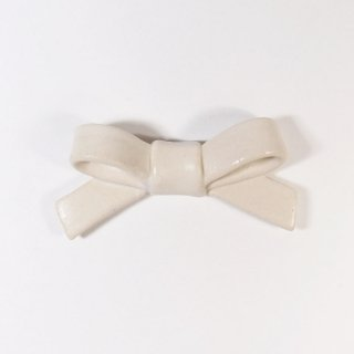 辻本路│箸置き(カトラリーレスト)  リボン 白