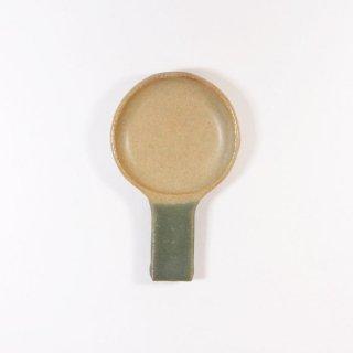 辻本路│箸置き(カトラリーレスト) フライパン 緑×深緑