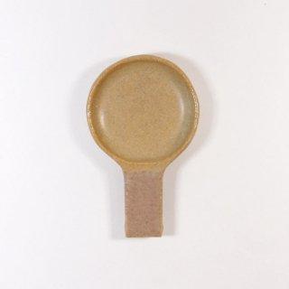辻本路│箸置き(カトラリーレスト) フライパン 緑×薄茶
