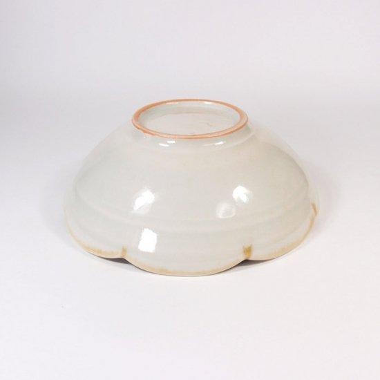 水谷和音│しのぎ輪花4寸鉢(灰釉)
