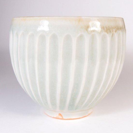水谷和音│しのぎ丸マグカップ(灰釉)