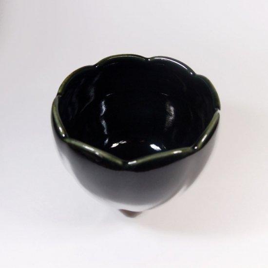 水谷和音│花カップ(瑠璃釉)