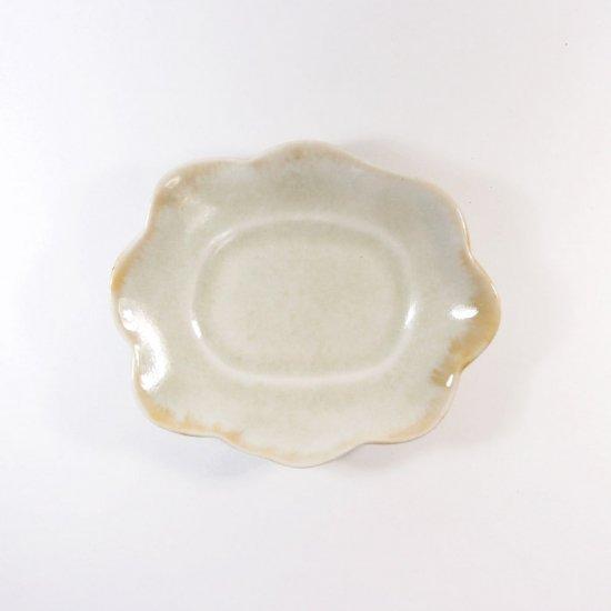 水谷和音│変形小皿(灰釉)