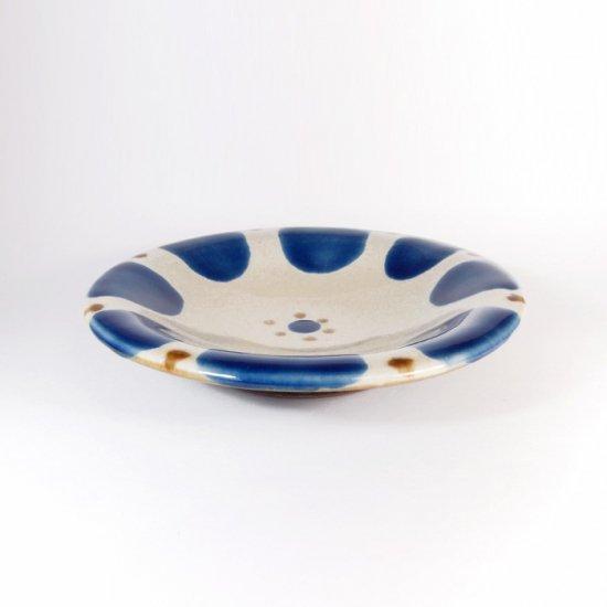 ノモ陶器製作所(野本周)|5寸皿 チチチャン コバルト【やちむん】