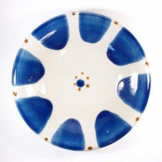 ノモ陶器製作所(野本周)|7寸皿 チチチャン コバルト【やちむん】