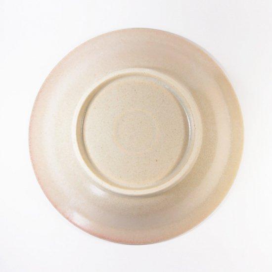 立原 亜紀子|しのぎ鉢  ホワイト(クリーム)(糠白釉)