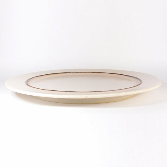 立原 亜紀子|7寸プレート  ホワイト(クリーム)(糠白釉)