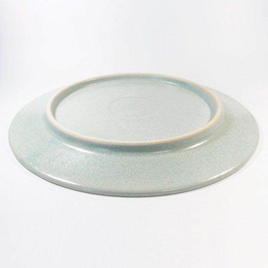 立原 亜紀子|7寸プレート  水色(水色釉)
