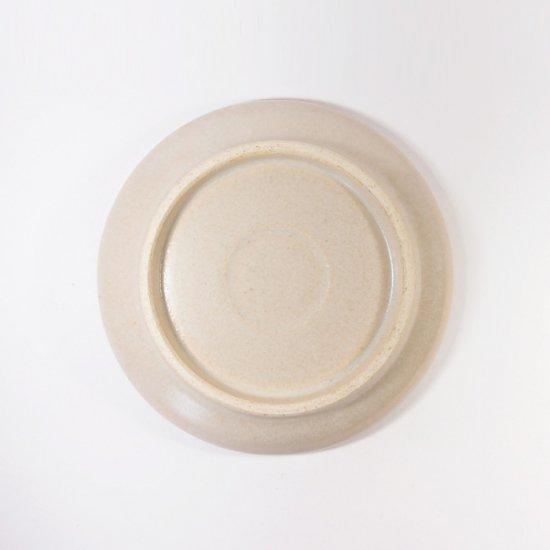 立原 亜紀子|小プレート  ホワイト(クリーム)(糠白釉)