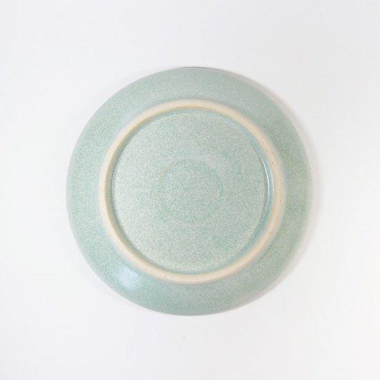 立原 亜紀子|小プレート  水色(水色釉)