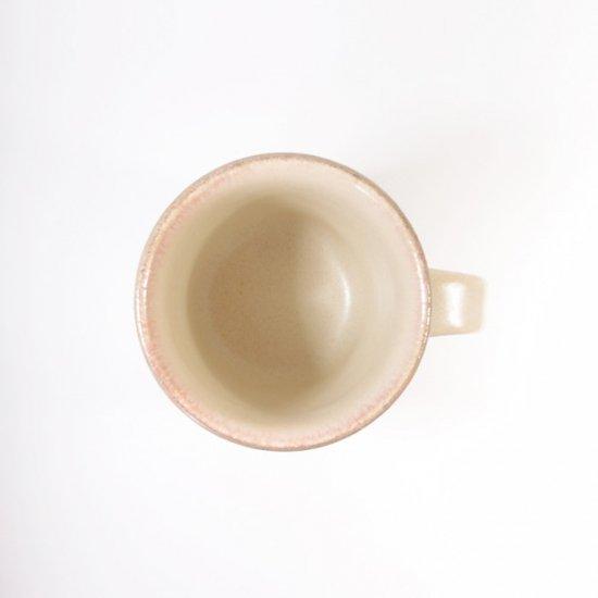 立原 亜紀子 マグカップ  ホワイト(クリーム)(糠白釉)