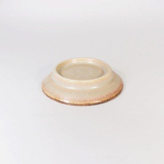 立原 亜紀子|しのぎ豆皿  ホワイト(クリーム)(糠白釉)