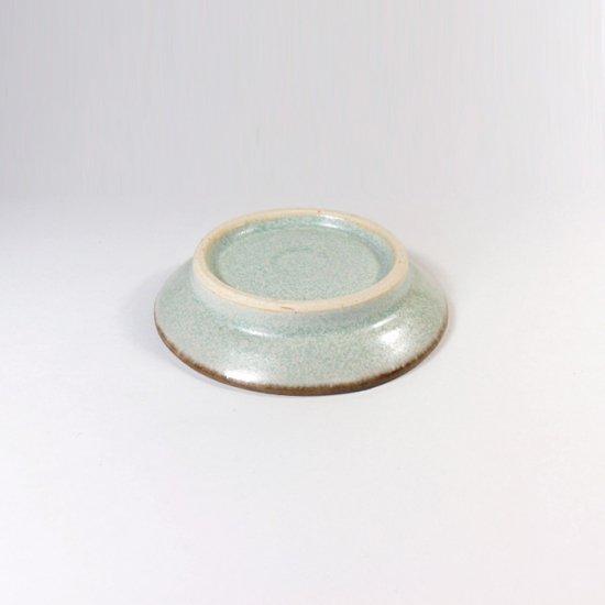 立原 亜紀子|しのぎ豆皿  水色(水色釉)