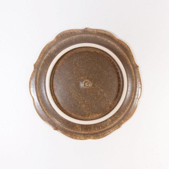 後藤奈々|輪花小皿(チタン) 茶