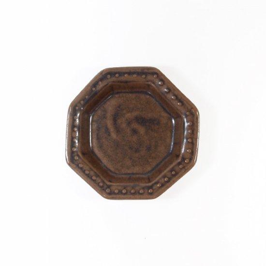 豊田雅代|鋳込 八角皿(小) ブロンズ