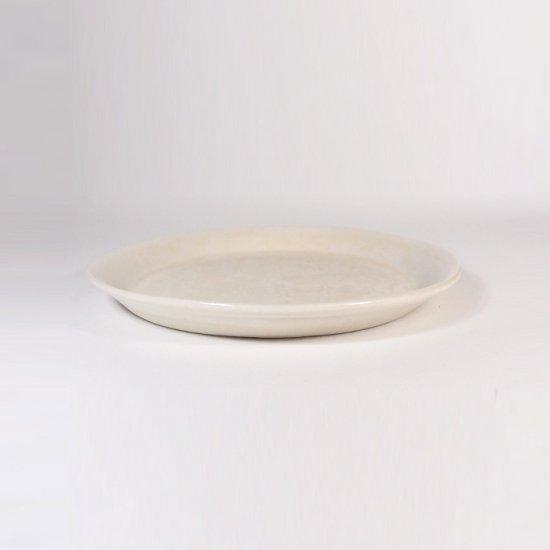 豊田雅代|鋳込 絵皿A(小) 白色