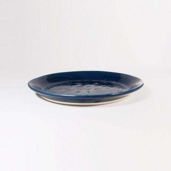 豊田雅代|鋳込 絵皿A(小) 藍色