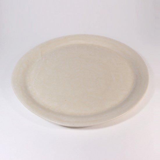 豊田雅代|鋳込 絵皿B(大) 白色