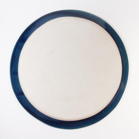 豊田雅代|鋳込 絵皿B(大) 藍色