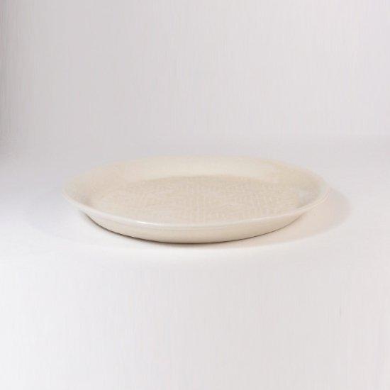豊田雅代|鋳込 絵皿B(小) 白色