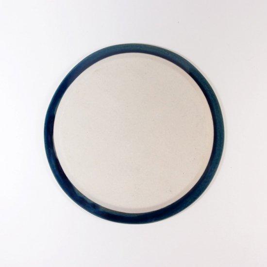 豊田雅代|鋳込 絵皿B(小) 藍色