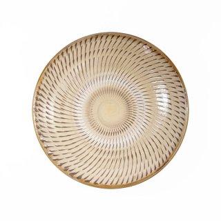 黒木富雄窯(小鹿田焼)|5寸皿 飛び鉋 白