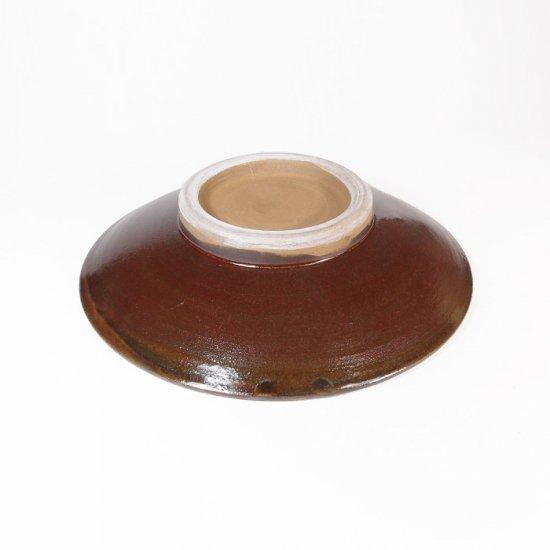黒木富雄窯(小鹿田焼)|5寸皿 飛び鉋 緑
