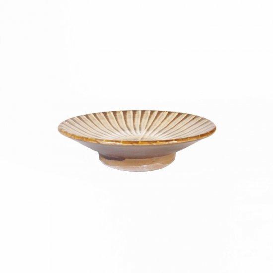 黒木富雄窯(小鹿田焼)|3.5寸皿 刷毛目 白