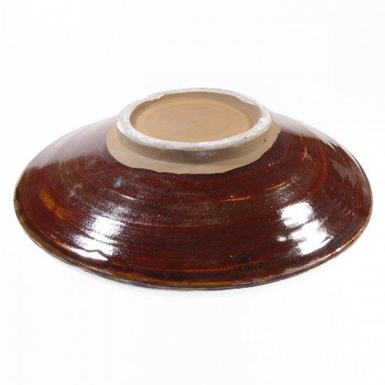 黒木富雄窯(小鹿田焼)|8寸皿 刷毛目 白