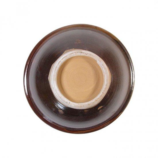 黒木富雄窯(小鹿田焼)|5寸中深皿 刷毛目(フチに櫛目) 白