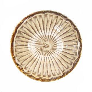 黒木富雄窯(小鹿田焼)|6寸中深皿 刷毛目(フチに櫛目) 白