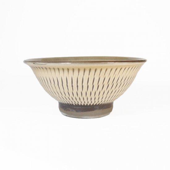 黒木富雄窯(小鹿田焼)|4寸飯碗 飛び鉋 白