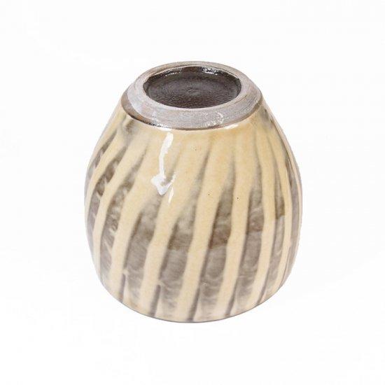 黒木富雄窯(小鹿田焼)|丸フリーカップ 刷毛目 白